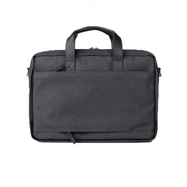 BREE Punch Casual 718 grey / black business bag canvas - leather επαγγελματική τσάντα ύφασμα - δέρμα γκρι - μαύρο 1970