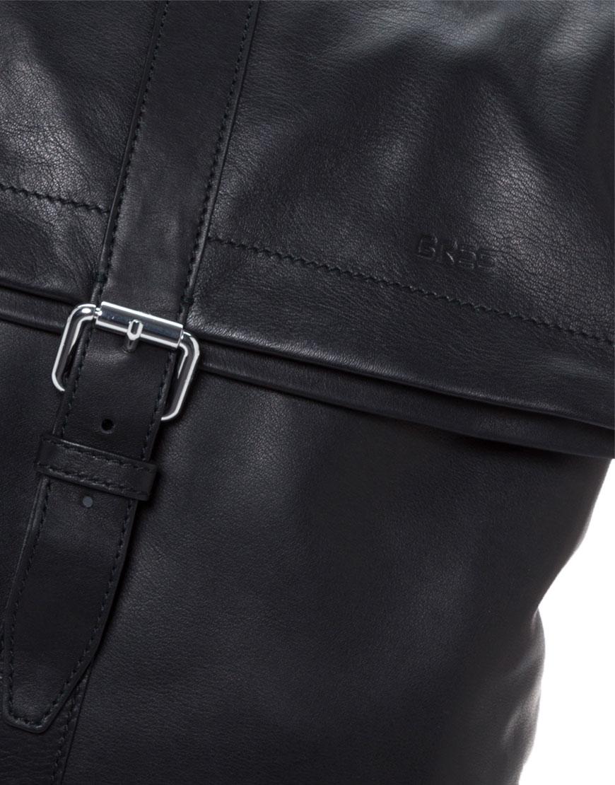 BREE Stockholm 13 black leather backpack δέρμα σακίδιο πλάτης μαύρο 1970