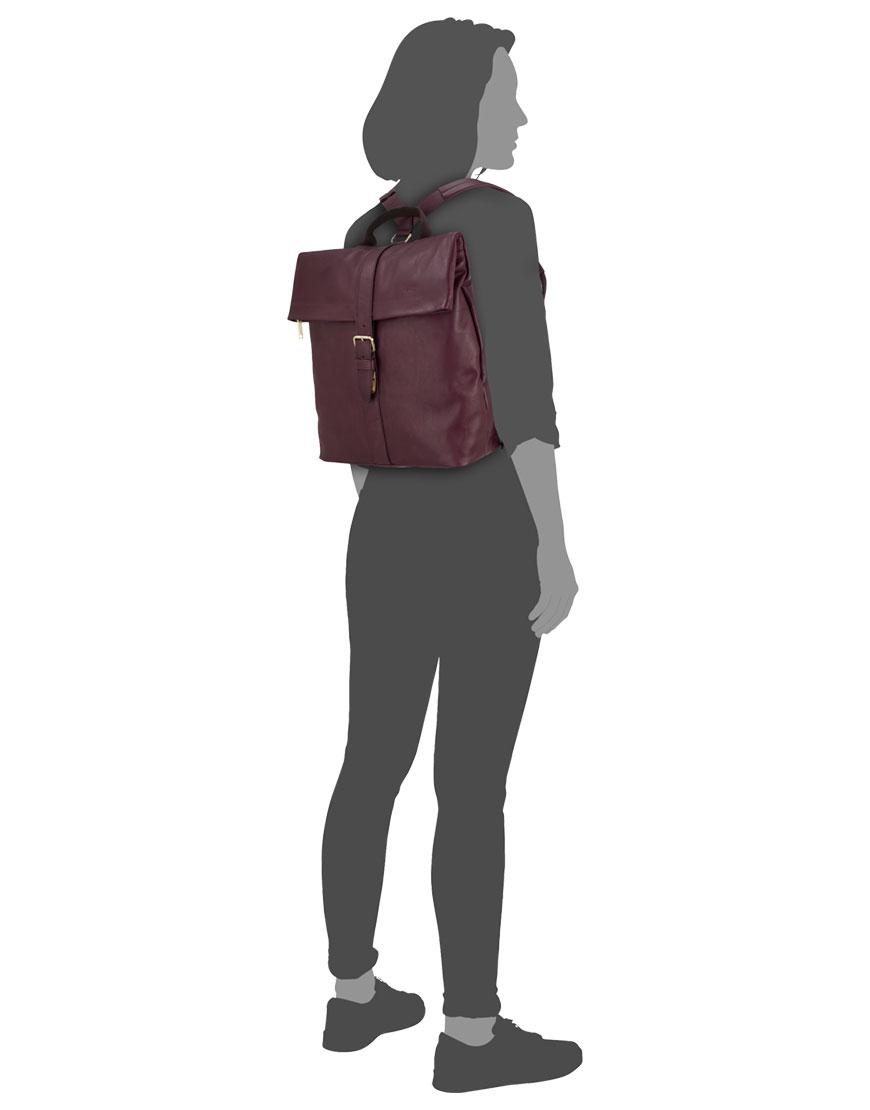 BREE Stockholm 13 mauve wine leather backpack δέρμα σακίδιο πλάτης μπορντώ κόκινο σκούρο 2019 - 2020