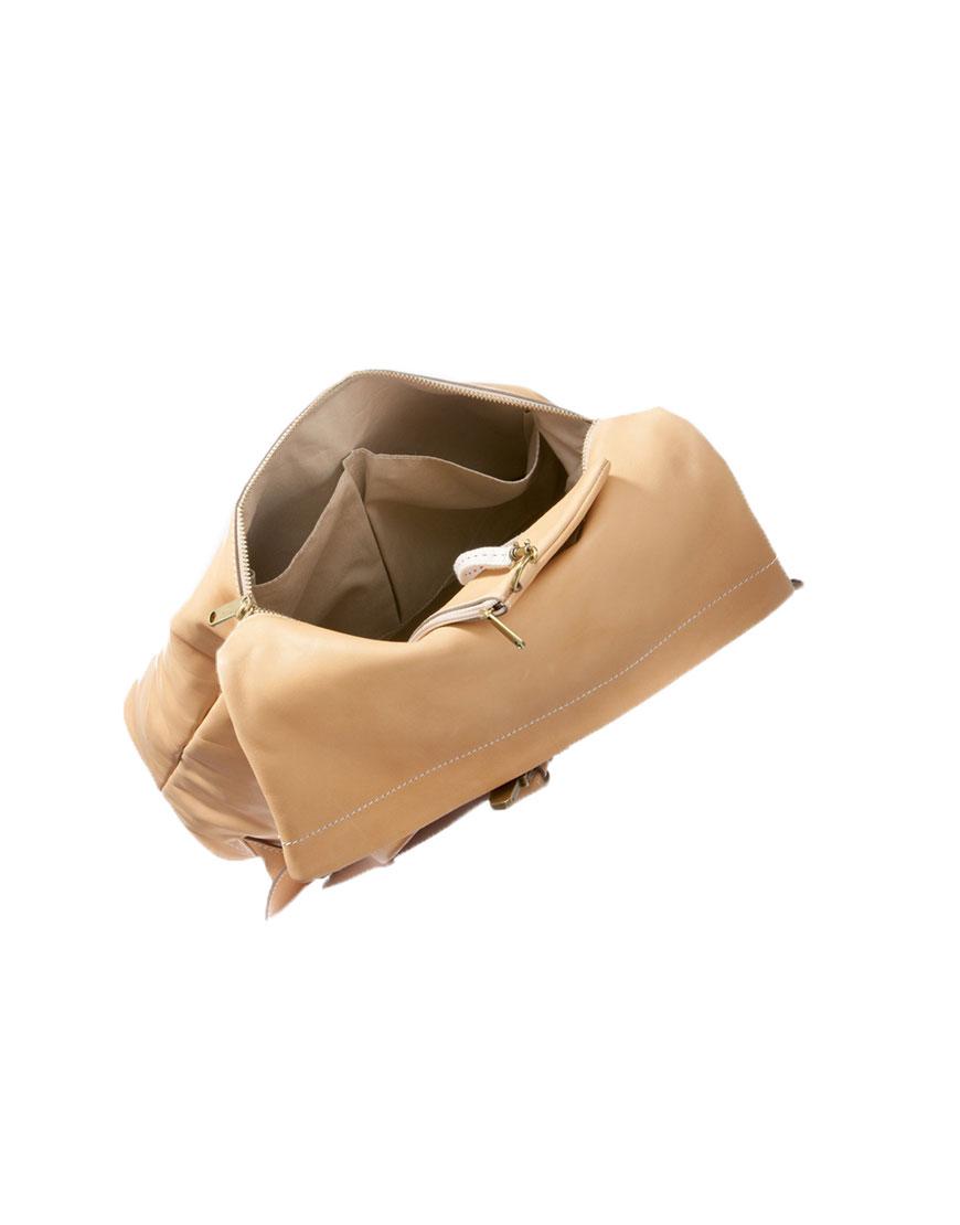 BREE Stockholm 13 nature leather backpack δέρμα σακίδιο πλάτης φυσικό χρώμα του δέρματος 1970