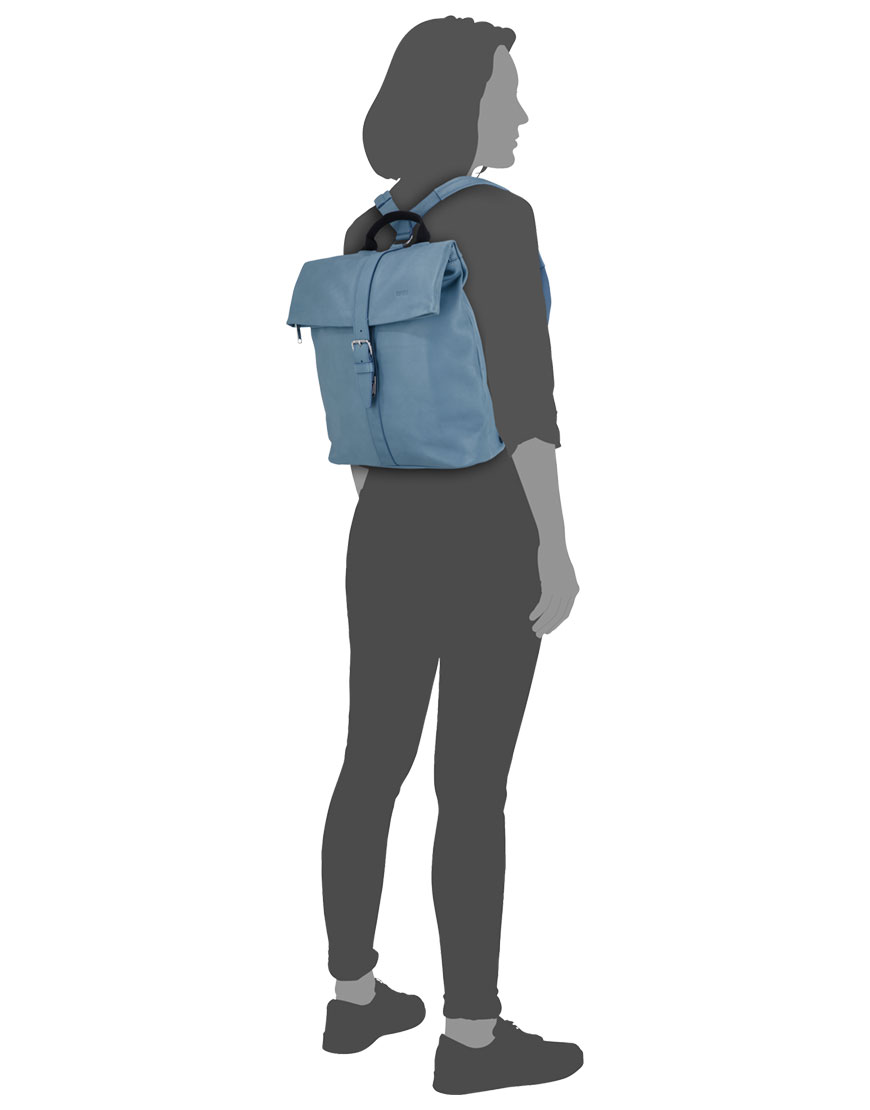 BREE Stockholm 13 provincial blue leather backpack δέρμα σακίδιο πλάτης μπλε - γκρι 2019 - 2020