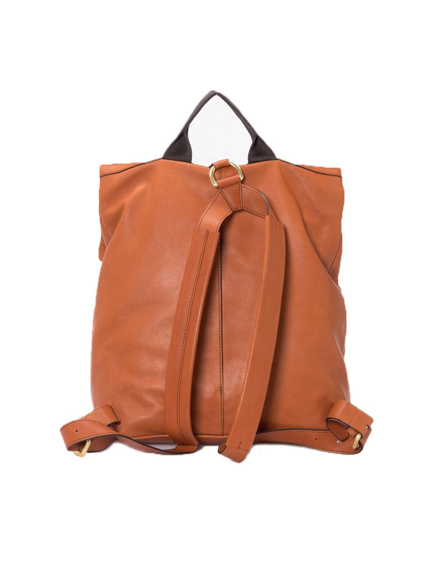 BREE Stockholm 13 whisky leather backpack δέρμα σακίδιο πλάτης καφέ ταμπά 2019
