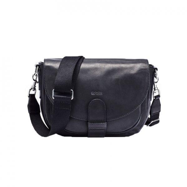BREE Stockholm 29 black leather cross over shoulder bag δέρμα τσάντα ταχυδρομική μαύρο 1970