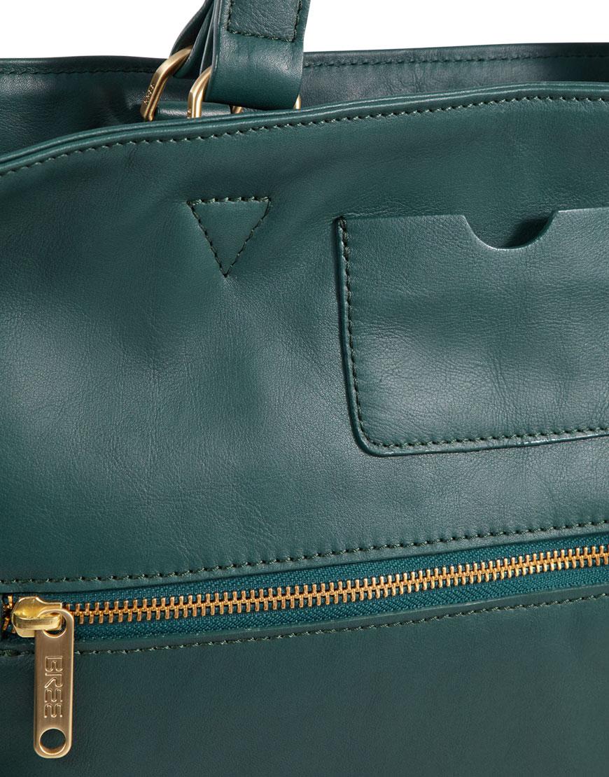 BREE Stockholm 34 atlantic deep leather shoulder bag δέρμα τσάντα ώμου πράσινο σκούρο 2019 - 2020