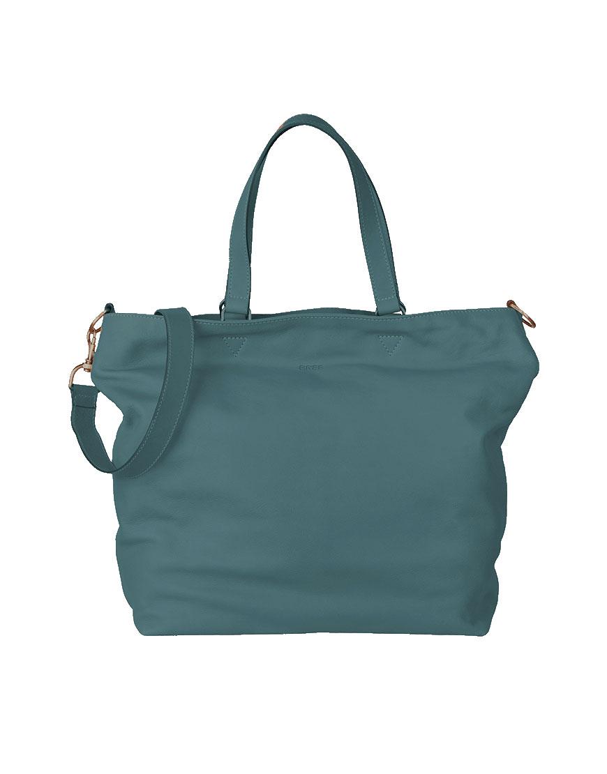 BREE Stockholm 34 provincial blue leather shoulder bag δέρμα τσάντα ώμου μπλε - γκρι 2019 - 2020