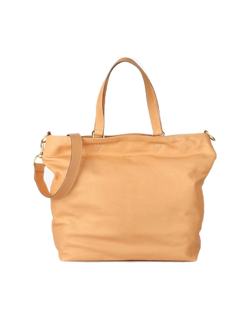 BREE Stockholm 34 nature leather shoulder bag δέρμα τσάντα ώμου φυσικό χρώμα του δέρματος 1970