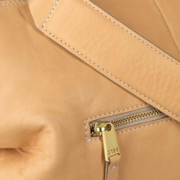 BREE Stockholm 37 nature leather short handle bag δέρμα τσάντα με κοντά χέρια φυσικό χρώμα του δέρματος 1970