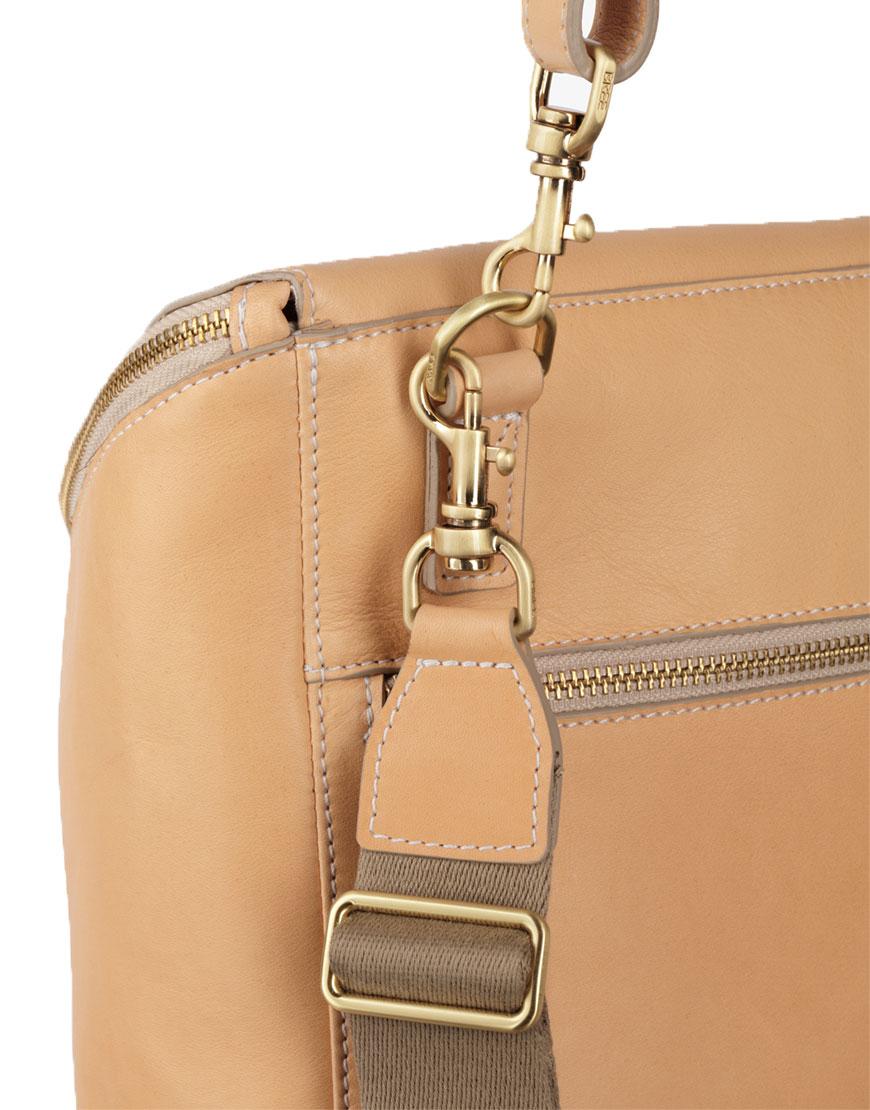 BREE Stockholm 40 nature leather backpack and shoulder bag δέρμα τσάντα ώμου και σακίδιο πλάτης φυσικό χρώμα του δέρματος 1970