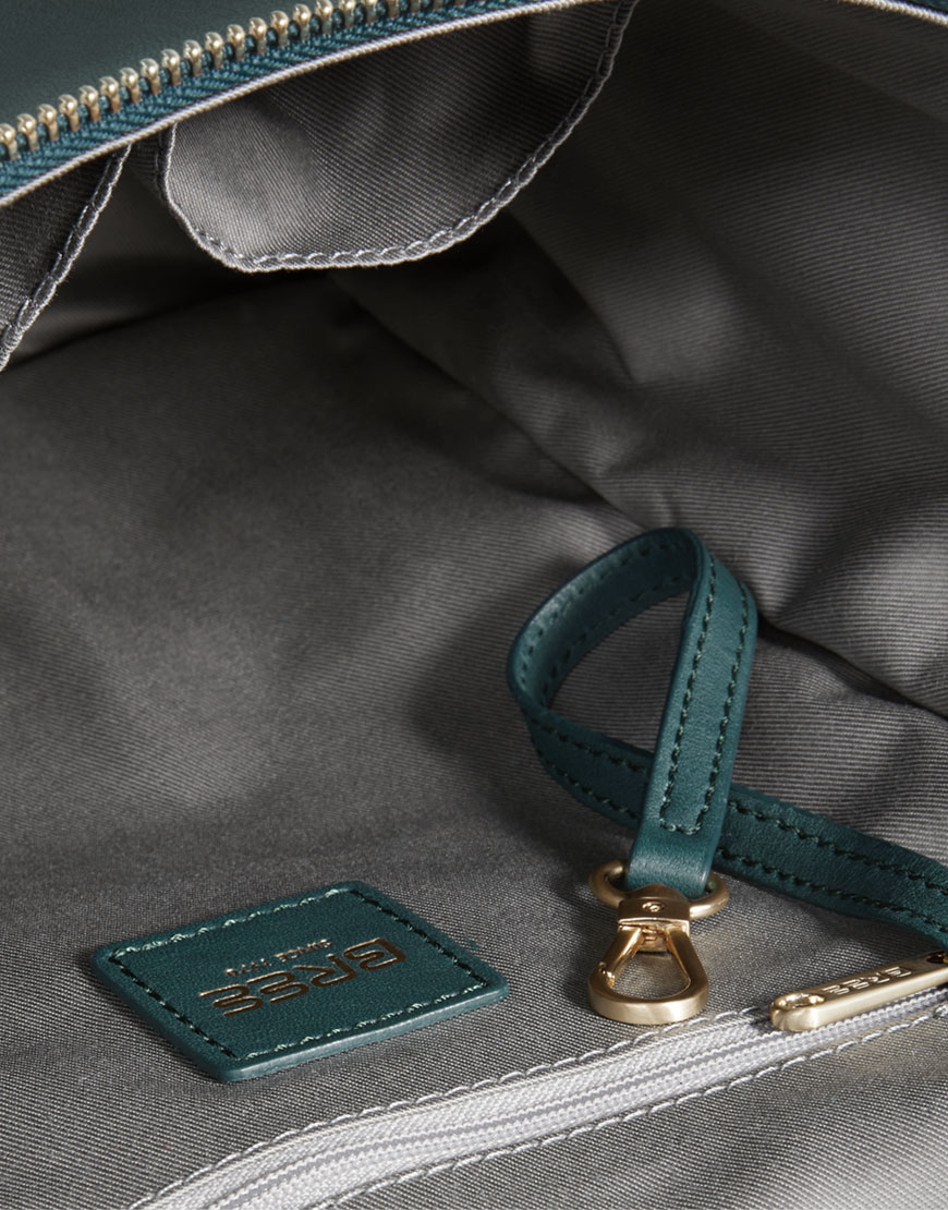 BREE Stockholm 40 atlantic deep leather backpack and shoulder bag δέρμα τσάντα ώμου και σακίδιο πλάτης πράσινο σκούρο 2019 - 2020