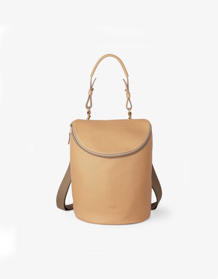 BREE Stockholm 40 nature leather shoulder bag and backpack δέρμα σακίδιο πλάτης και τσάντα ώμου φυσικό χρώμα του δέρματος 1970