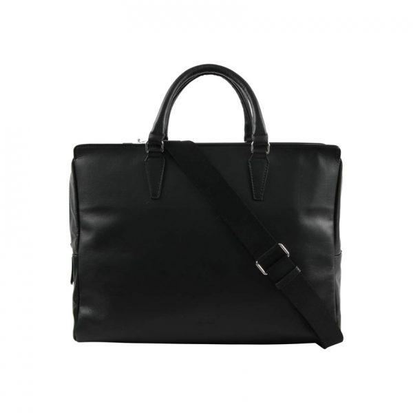 BREE Stockholm 43 black leather business bag δέρμα τσάντα επαγγελματική μαύρο 1970