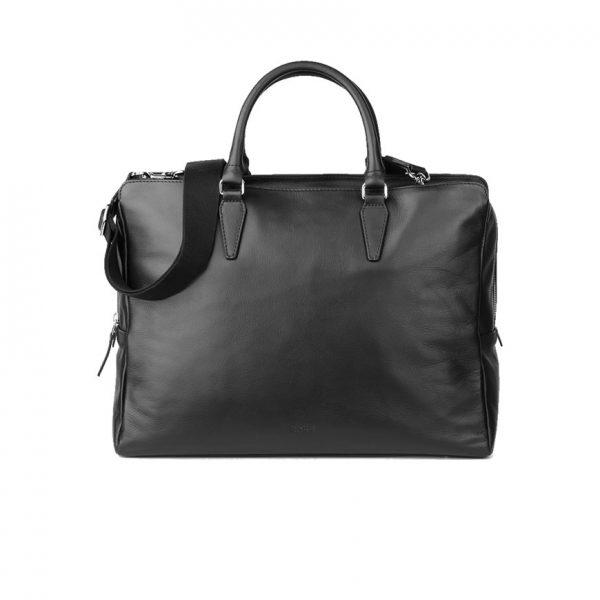 BREE Stockholm 43 black leather business short handle bag bag δέρμα τσάντα επαγγελματική με κοντά χέρια μαύρο 1970