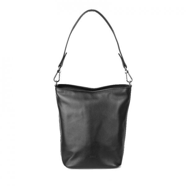 BREE Stockholm 44 black leather shoulder bag δέρμα τσάντα ώμου μαύρο1970