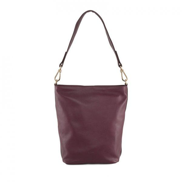 BREE Stockholm 44 mauve wine leather shoulder bag δέρμα τσάντα ώμου μπορντώ κόκκινο σκούρο 2019 - 2020