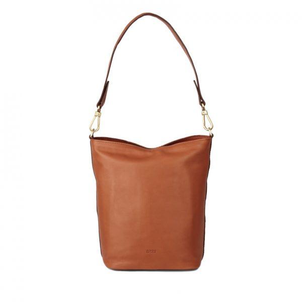 BREE Stockholm 44 whisky leather shoulder bag δέρμα τσάντα ώμου καφέ ταμπά 2019
