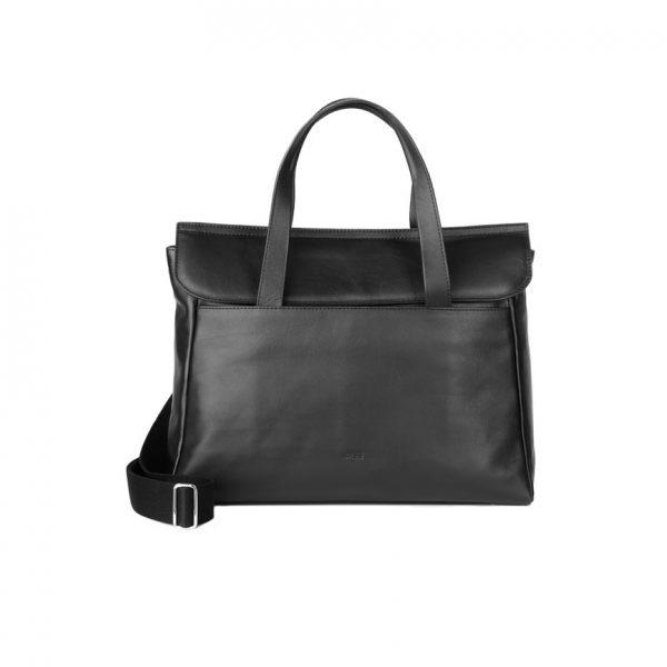 BREE Stockholm 45 black leather business short handle shoulder bag δέρμα τσάντα επαγγελματική κοντά χέρια και ώμου μαύρη 1970