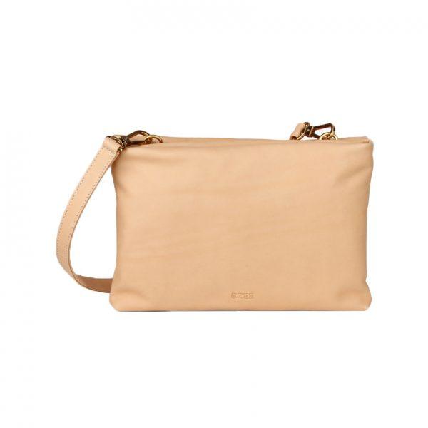 BREE Stockholm 46 nature leather cross shoulder bag δέρμα τσάντα ώμου ταχυδρομική φυσικό χρώμα του δέρματος 1970