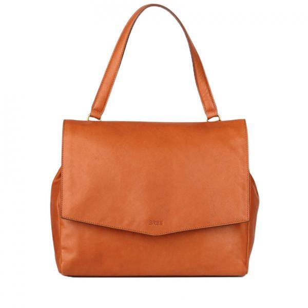 BREE Stockholm 47 whisky leather shoulder bag δέρμα τσάντα ώμου καφέ ταμπά 2019