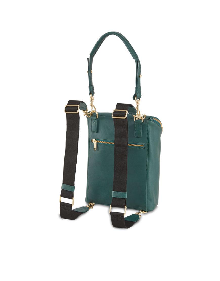 BREE Stockholm 49 ocean deep leather backpack πράσινο σκούρο σακίδιο πλάτης δέρμα 2019-2020