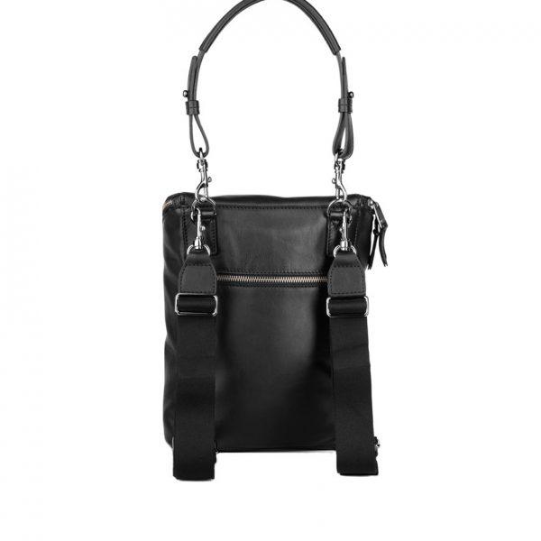 BREE Stockholm 49 black leather backpack μαύρο δέρμα σακίδιο πλάτης 1970