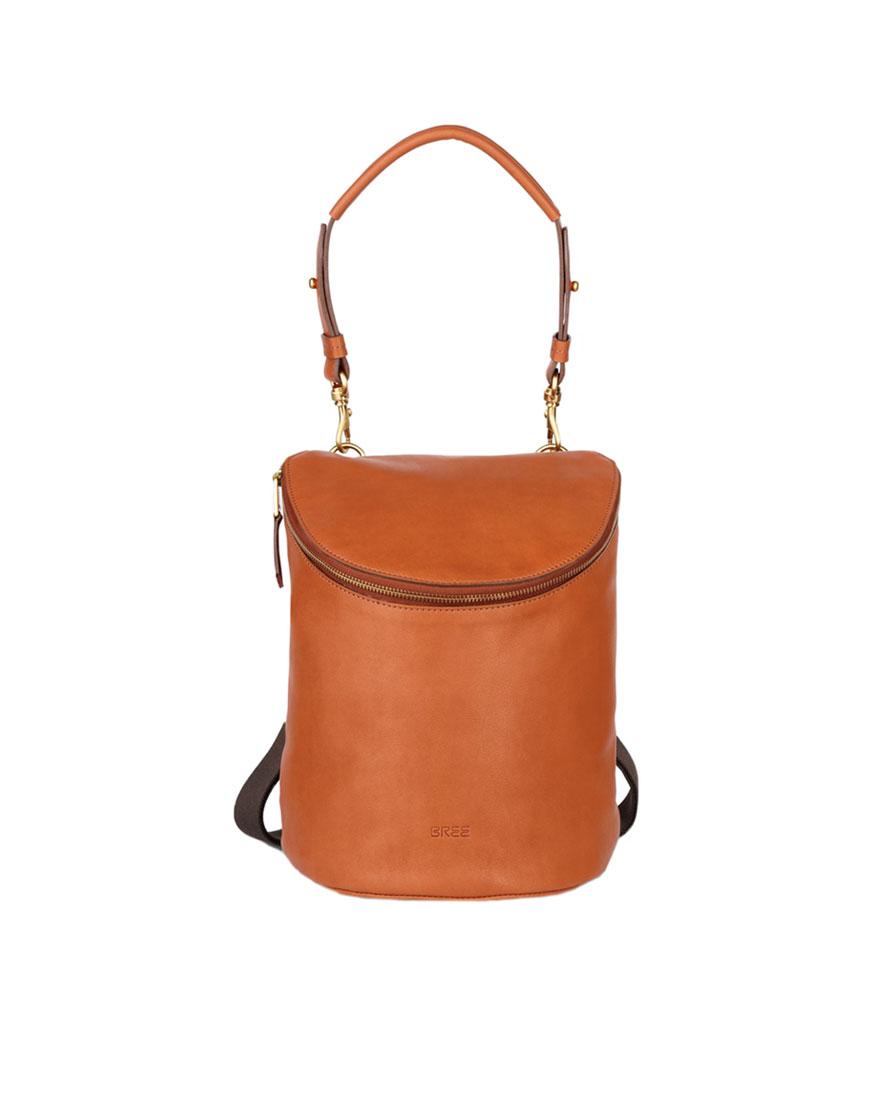 BREE Stockholm 49 whisky leather backpack ταμπα καφε σακίδιο πλάτης δέρμα 2019