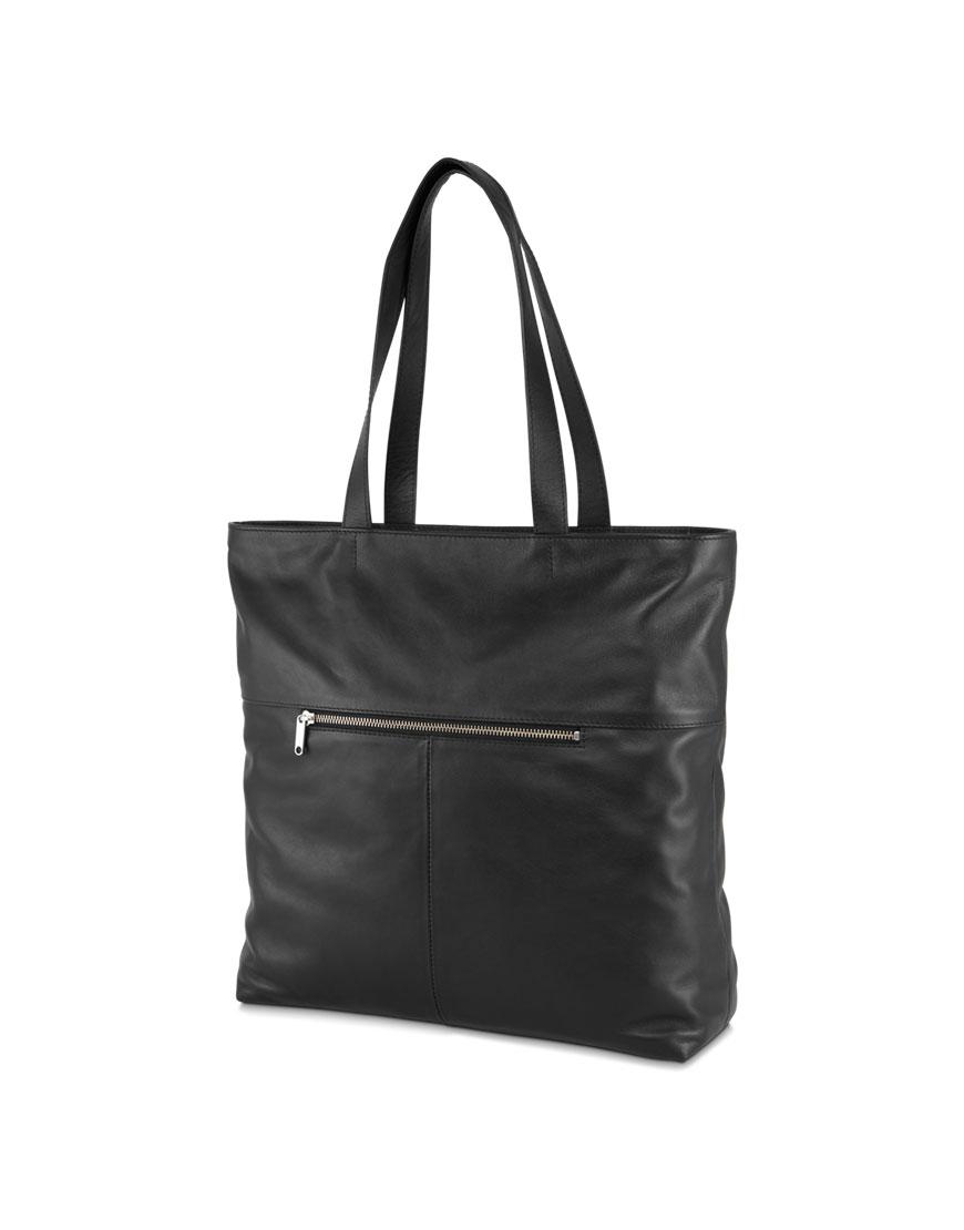 BREE Stockholm 52 black leather shoulder bag δέρμα τσάντα ώμου μαύρο 1970