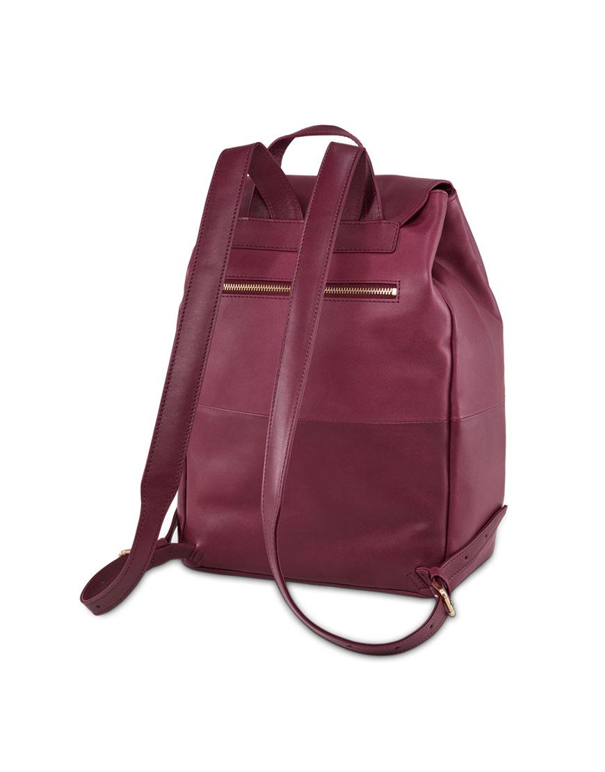 BREE Stockholm 53 mauve wine leather backpack δέρμα σακίδιο πλάτης μπορντώ κόκκινο σκούρο 2019 -2020