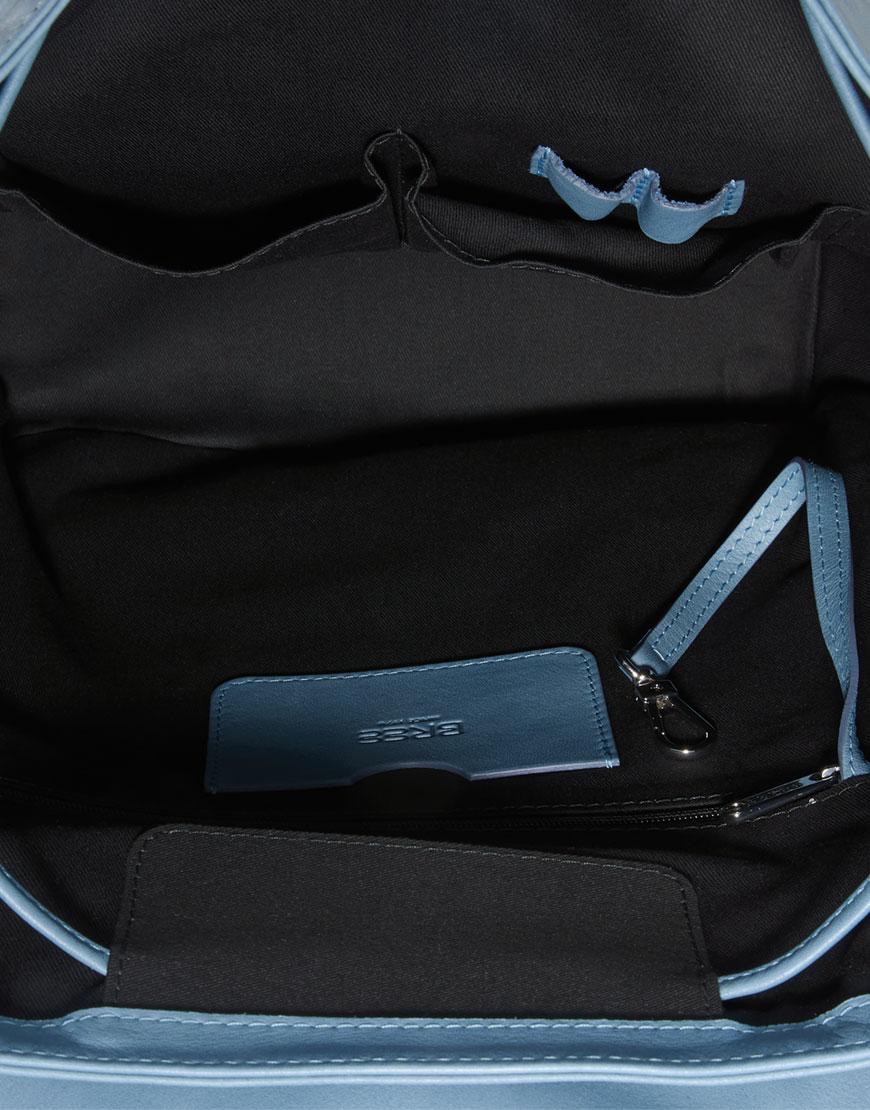BREE Stockholm 53 provincial blue leather backpack δέρμα σακίδιο πλάτης μπλε - γκρι 2019 - 2020