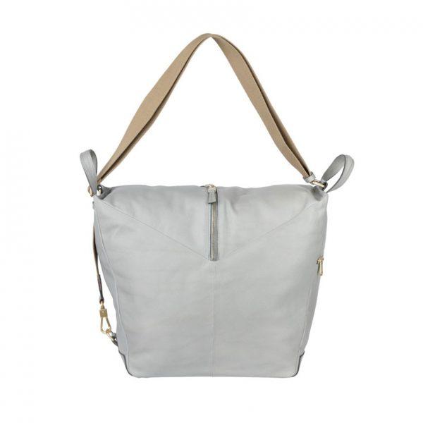 BREE Stockholm 54 belgian block leather shoulder bag δέρμα τσάντα ώμου γκρι ανοιχτό 2019